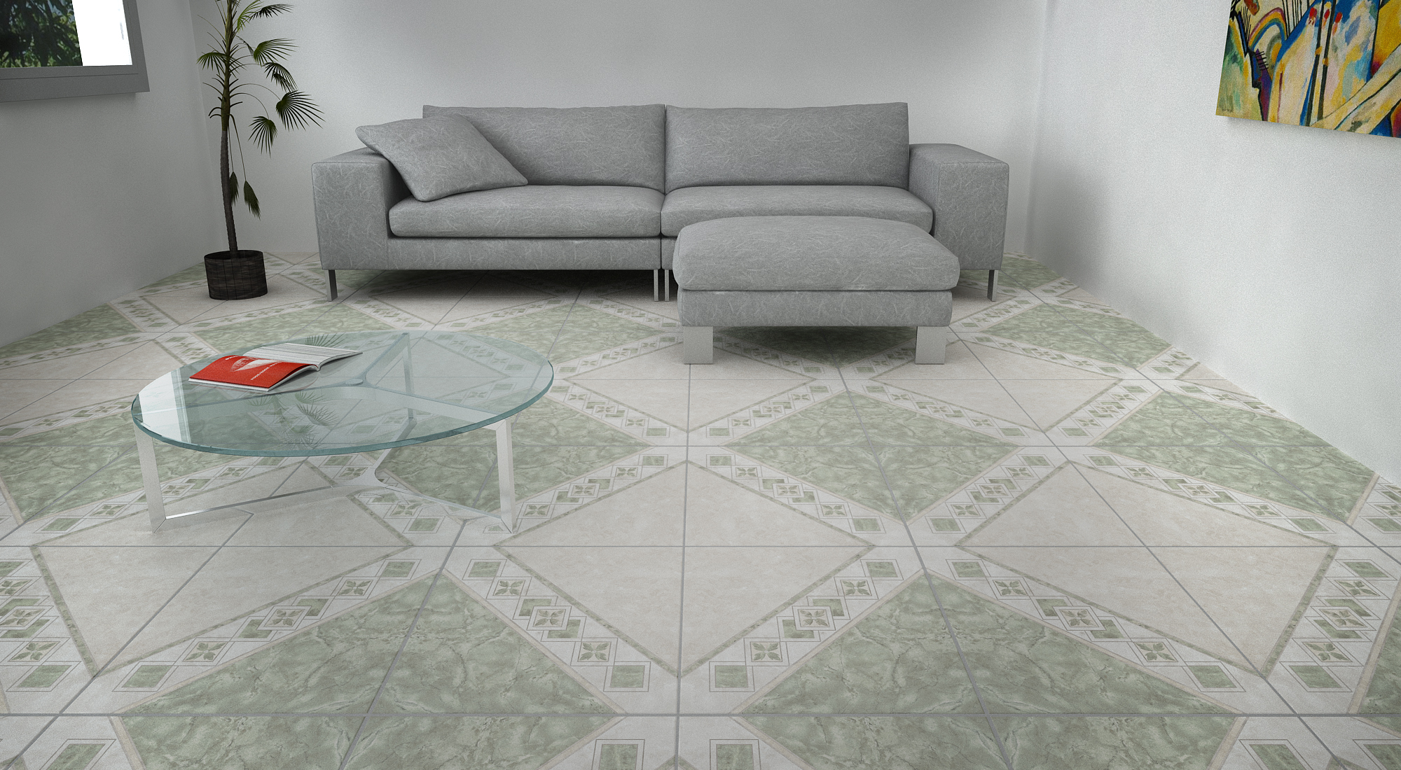 Tile 20x20 Cer Lotus VR